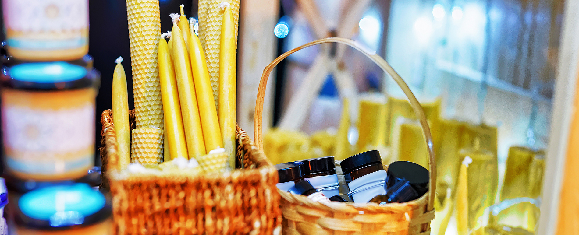 Collection of candles and other gifts. Verona shopping